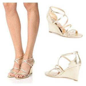 Badgley Mischka NEW Melaney Gold Metallic Sandals